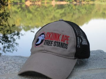 Skunk Ape Khaki Trucker Hat