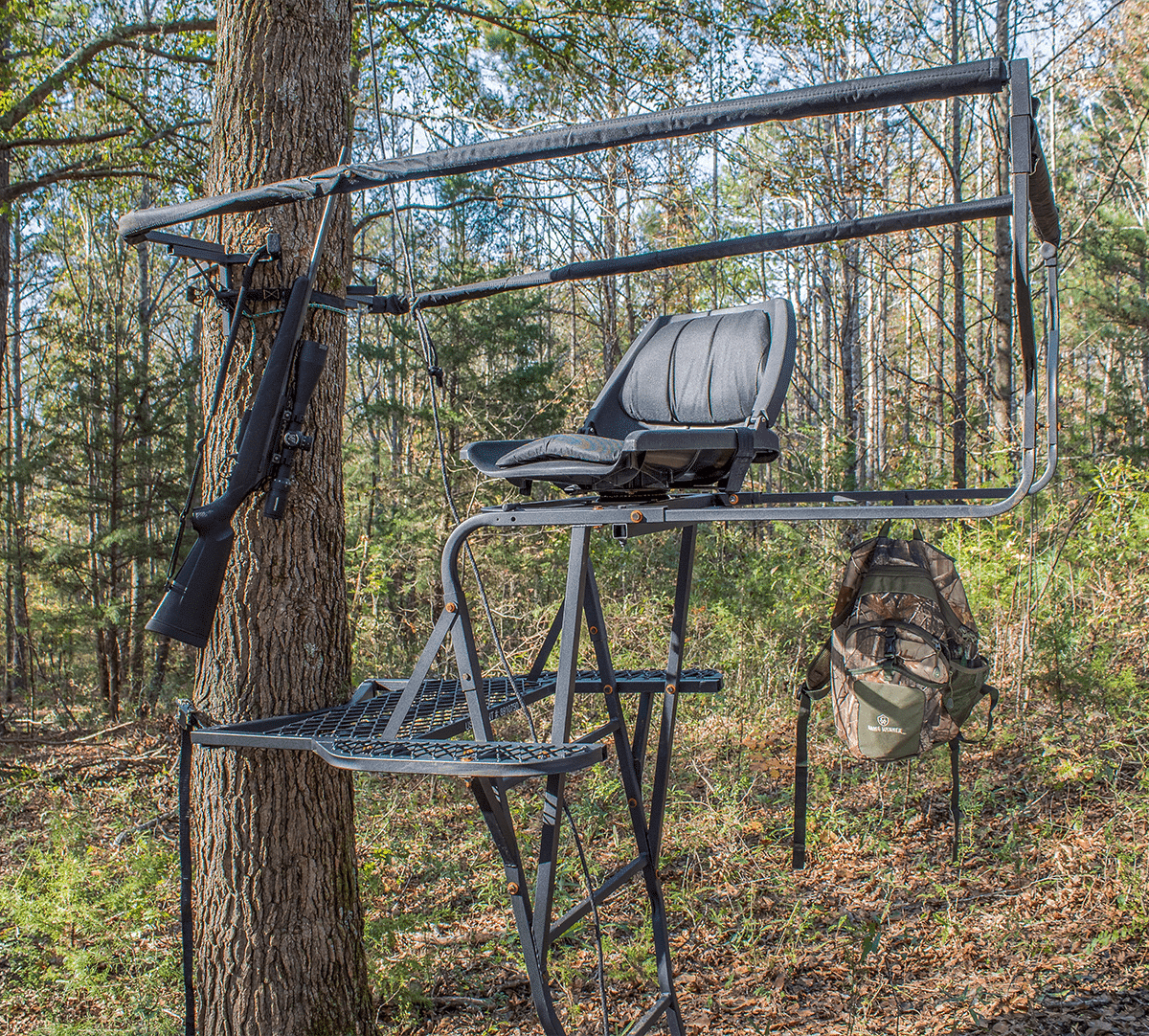 Skunk ape tree stand ladder tree stand deer stand for Tree stand pictures